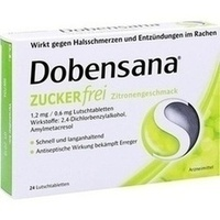 Dobensana Zuckerfrei Zitronengeschmack 1.2mg, 24 ST, Reckitt Benckiser Deutschland GmbH