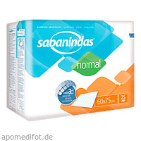 Sabanindas normal 60 x 75 cm Bettschutzeinlage, 25 ST, Attends GmbH