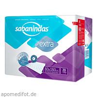 Sabanindas extra 80 x 180 cm Bettschutzeinlage, 6X20 ST, Attends GmbH