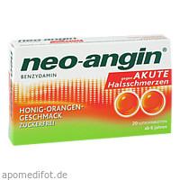 neo-angin Benzydamin akute Halsschmerz Honig-Orang, 20 ST, MCM KLOSTERFRAU Vertr. GmbH