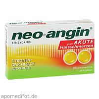 neo-angin Benzydamin akute Halsschmerz Zitrone, 20 ST, MCM Klosterfrau Vertriebsgesellschaft mbH