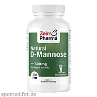 Natural D-Mannose 500 mg, 160 ST, Zein Pharma - Germany GmbH