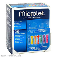 MICROLET Lanzetten farbig, 200 ST, Aca Müller/Adag Pharma AG