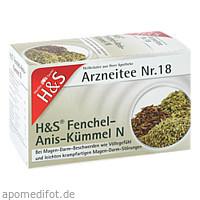 H&S Fenchel-Anis-Kümmel N, 20X2.0 G, H&S Tee - Gesellschaft mbH & Co.