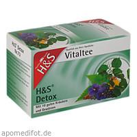 H&S Detox Vitaltee, 20X1.8 G, H&S Tee - Gesellschaft mbH & Co.