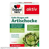 Doppelherz Galle-Dragee mit Artischocke, 50 ST, Queisser Pharma GmbH & Co. KG