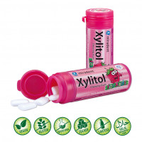 Xylitol Kaugummi Erdbeere miradent, 30 G, Hager Pharma GmbH