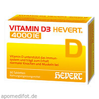 Vitamin D3 Hevert 4000 IE, 90 ST, Hevert Arzneimittel GmbH & Co. KG