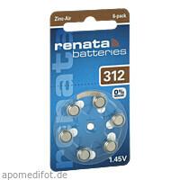 Renata Hörgerätebatterie ZA312 DP6 0% HG, 6 ST, The Swatch Group (Deutschland) GmbH