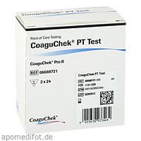 CoaguChek PT Test, 2 × 24 Stück, Roche Diagnostics Deutschland GmbH