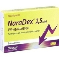 NaraDex 2.5 mg Filmtabletten, 2 ST, Dexcel Pharma GmbH