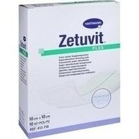 ZETUVIT Plus extrastarke Saugkomp.ster.10x10 cm, 10 ST, Tora Pharma GmbH