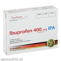 Ibuprofen 400mg IPA, 20 ST, Interpharm GmbH