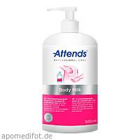 Attends Professional Care Body Milk, 500 ML, Attends GmbH