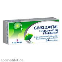Ginkgovital Heumann 40 mg Filmtabletten, 30 ST, Heumann Pharma GmbH & Co. Generica KG
