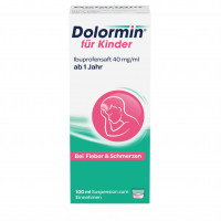 Dolormin für Kinder Ibuprofensaft 40 mg/ml, 100 ML, Johnson & Johnson GmbH (Otc)