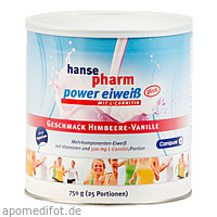 Hansepharm Power Eiweiß plus Himbeere-Vanille, 750 G, NUTRICHEM DIÄT + PHARMA GmbH