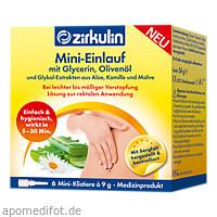 Zirkulin Mini-Einlauf mit Glyzerin, 6X9 G, DISTRICON GmbH