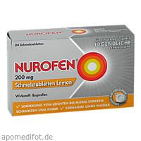 Nurofen 200 mg Schmelztabletten Lemon, 24 ST, Reckitt Benckiser Deutschland GmbH