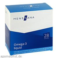 Omega-3 liquid MensSana Sticks, 28 ST, MensSana AG