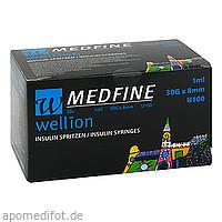 Wellion MEDFINE Insulinspritzen 1ml U100 30Gx8mm, 30 ST, Med Trust GmbH