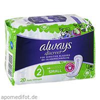 always Discreet Inkontinenz Small, 20 ST, Halajot Einkaufs OHG