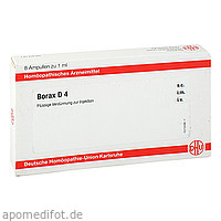 BORAX D4 AMPULLEN, 8X1 ML, Dhu-Arzneimittel GmbH & Co. KG