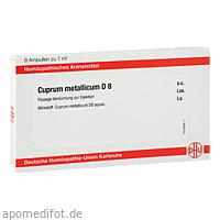 CUPRUM METALLICUM D8 AMPULLEN, 8X1 ML, Dhu-Arzneimittel GmbH & Co. KG