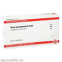 RHUS TOXICODENDRON D30 AMPULLEN, 8X1 ML, Dhu-Arzneimittel GmbH & Co. KG