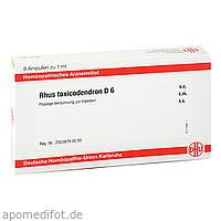 RHUS TOXICODENDRON D6 AMPULLEN, 8X1 ML, Dhu-Arzneimittel GmbH & Co. KG