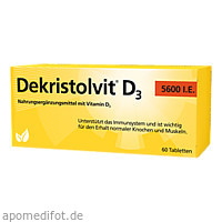 Dekristolvit D3 5600 I.E., 60 ST, Hübner Naturarzneimittel GmbH