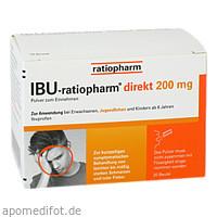 IBU-ratiopharm direkt 200 mg Pulver zum Einnehmen, 20 ST, ratiopharm GmbH