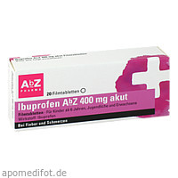 Ibuprofen AbZ 400 mg akut Filmtabletten, 20 ST, Abz Pharma GmbH