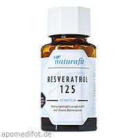 Naturafit Resveratrol 125, 60 ST, Naturafit GmbH