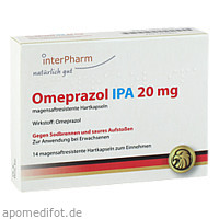 Omeprazol IPA 20mg, 14 ST, Interpharm GmbH