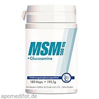 MSM 500mg + Glucosamine Kapseln, 180 ST, Pharma Peter GmbH