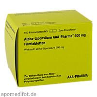 Alpha-Liponsäure AAA-Pharma 600mg Filmtabletten, 100 Stück, Aaa - Pharma GmbH