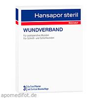 Hansapor steril Wundverband 6x7cm 3er Pack, 3 ST, Beiersdorf AG