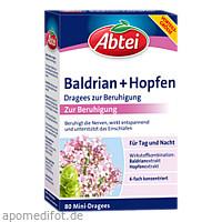 ABTEI Baldrian + Hopfen Drg z. Beruhigung, 80 ST, Omega Pharma Deutschland GmbH