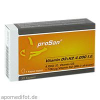 proSan Vitamin D3+K2 4.000 I.E., 30 ST, Prosan Pharmazeutische Vertriebs GmbH