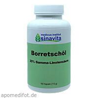 Borretschöl 20% Gamma-Linolensäure 160 Kps., 160 ST, Medicus Institut Sinavita