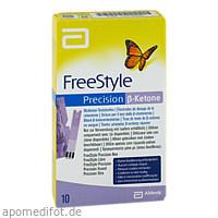 Freestyle Precision Beta Ketone Blutketon Teststr., 10 ST, kohlpharma GmbH