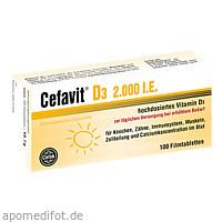 Cefavit D3 2.000 I.E., 100 ST, Cefak KG