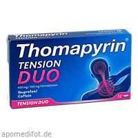 Thomapyrin TENSION DUO 400 mg/100mg Filmtabletten, 12 ST, Sanofi-Aventis Deutschland GmbH GB Selbstmedikation /Consumer-Care