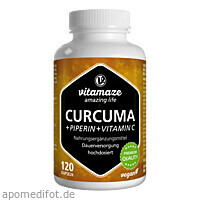 Curcuma + Piperin + Vitamin C vegan, 120 ST, Vitamaze GmbH