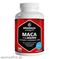 Maca 4:1 hochdosiert + L-Arginin, 240 ST, Vitamaze GmbH