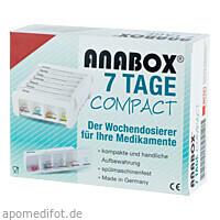 ANABOX 7 Tage Compact weiß, 1 ST, Wepa Apothekenbedarf GmbH & Co. KG