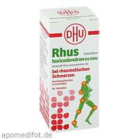 Rhus tox. D6 DHU bei rheumatischen Schmerzen, 80 ST, Dhu-Arzneimittel GmbH & Co. KG