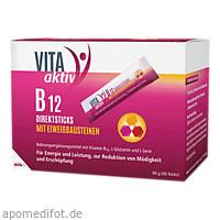 VITA aktiv B 12 Direktsticks mit Eiweißbausteinen, 60 ST, Mibe GmbH Arzneimittel