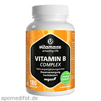 Vitamin B-Complex hochdosiert vegan, 180 ST, Vitamaze GmbH